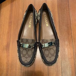 Coach Olive Outline C Jacquard Loafers